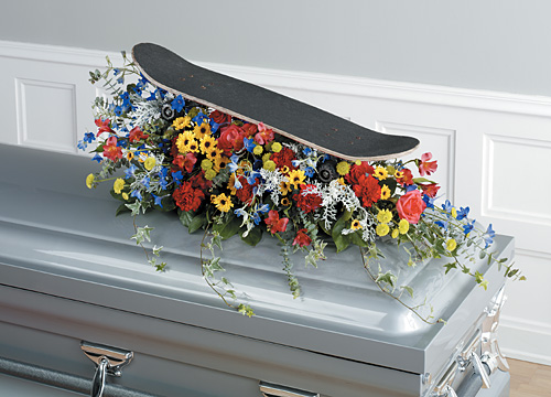 Skate Board Gratitude Casket Spray