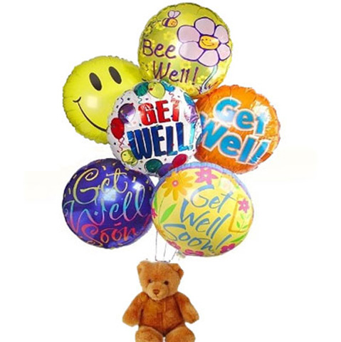 Get Well Balloon Bouquet & Toy