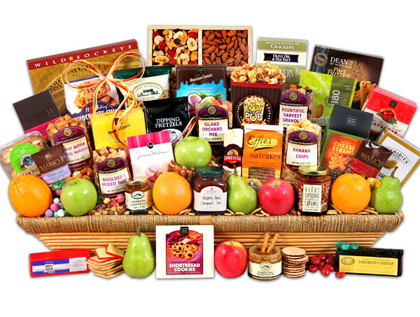 Fresh Fruit & Gourmet Gift Basket
